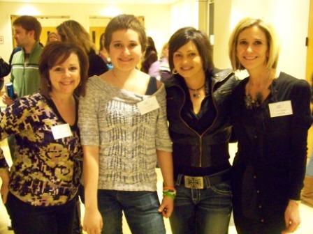 Co-chair Sue Miller-Warden, featured speaker Sasha Edwards, MC Heidi Glaus, and co-chair Christine Sadler